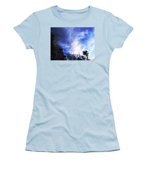 Women's T-Shirt (Junior Cut) featuring the photograph Sky Study 4 3/11/16 by Melissa Stoudt