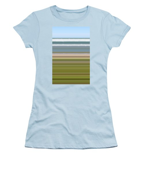 Sky Water Earth Grass Women's T-Shirt (Athletic Fit)