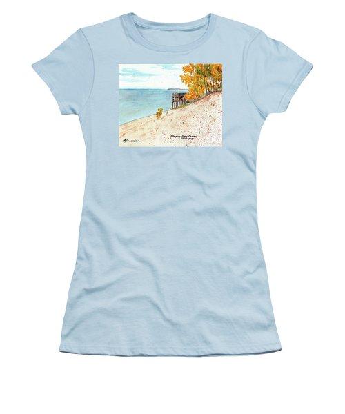 Sleeping Bear Dunes Women's T-Shirt (Athletic Fit)