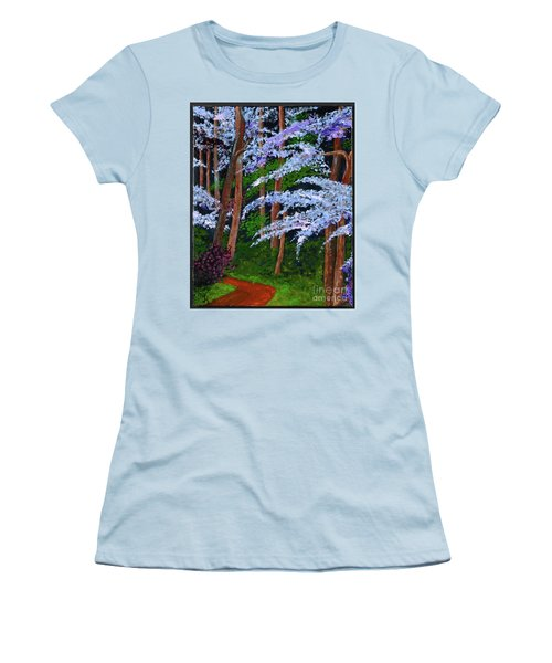 Smokey Mtn. Trail Women's T-Shirt (Athletic Fit)