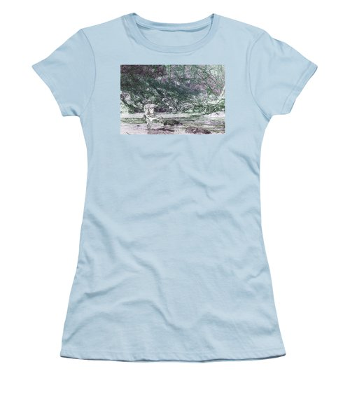 Women's T-Shirt (Junior Cut) featuring the photograph Smoky Mountain Fisherman by Mike Eingle