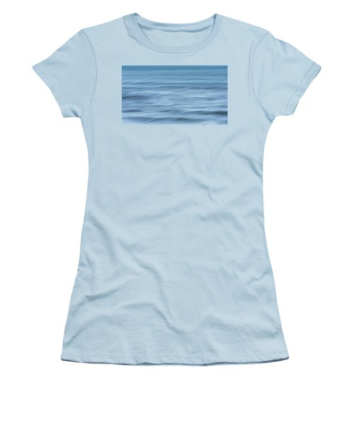 Smooth Blue Abstract Women's T-Shirt (Junior Cut) by Terry DeLuco