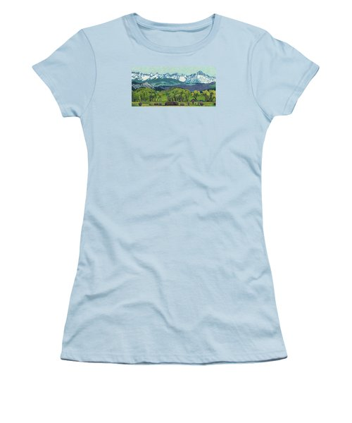 Sneffels Range Spring Women's T-Shirt (Junior Cut) by Dan Miller