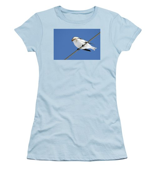 Snow Bunting Women's T-Shirt (Athletic Fit)