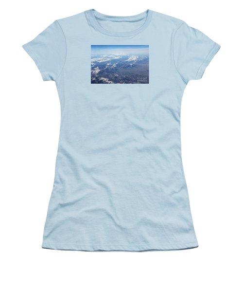 Snow Covered Rocky  Women's T-Shirt (Junior Cut) by Yumi Johnson