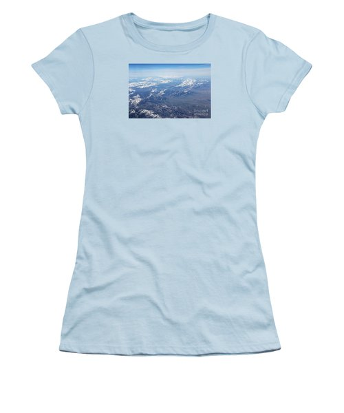Snow Covered Rocky  Women's T-Shirt (Junior Cut)