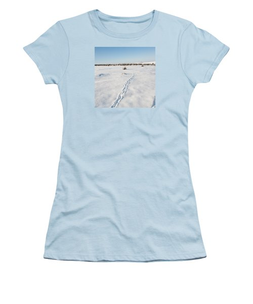 Snow Tracks Women's T-Shirt (Athletic Fit)