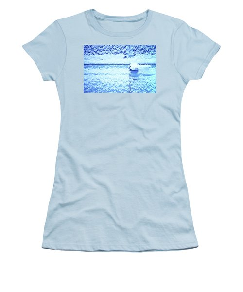 Women's T-Shirt (Junior Cut) featuring the photograph Snow Van 51 Chevy Panel by Laurie Stewart
