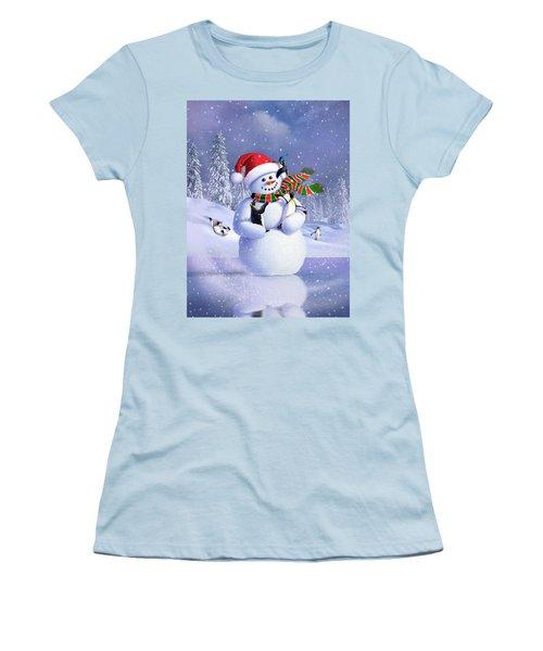 Snowman Women's T-Shirt (Athletic Fit)