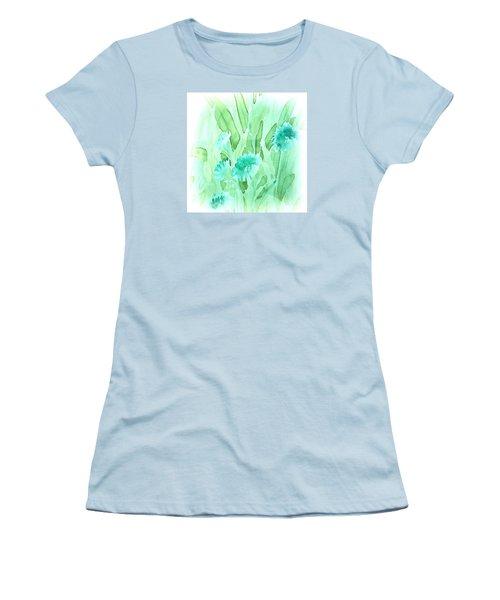 Soft Watercolor Floral Women's T-Shirt (Junior Cut) by Judy Palkimas