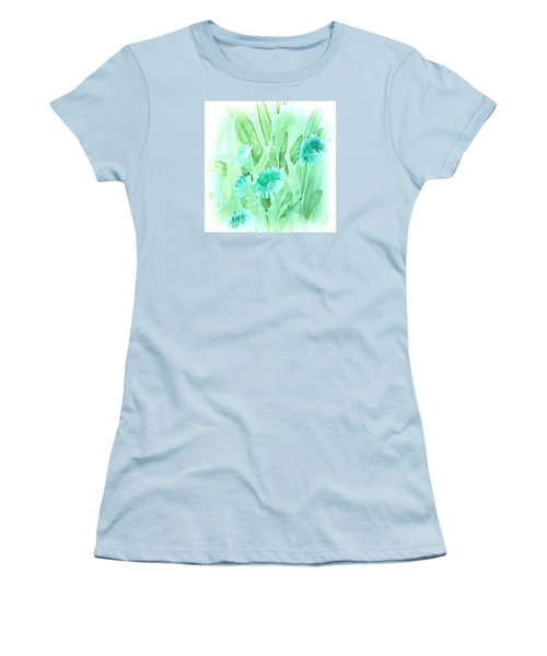 Soft Watercolor Floral Women's T-Shirt (Athletic Fit)