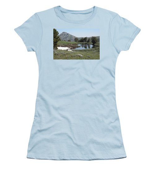 Soldier Lake And Peak Women's T-Shirt (Athletic Fit)