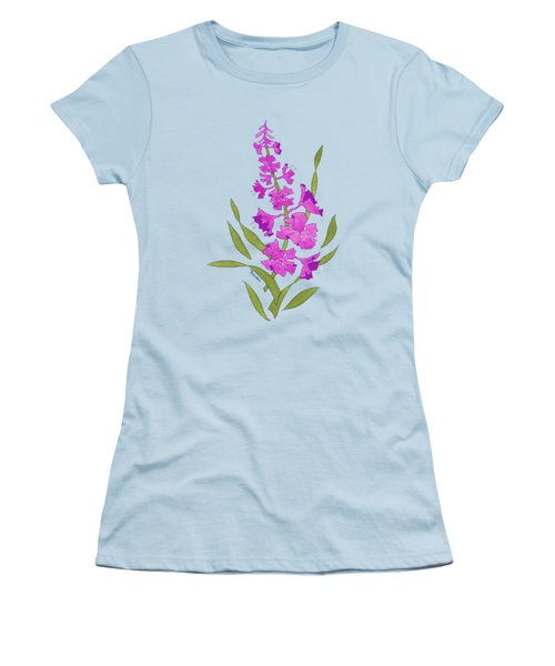 Solo Fireweed Shirt Image Women's T-Shirt (Junior Cut) by Teresa Ascone