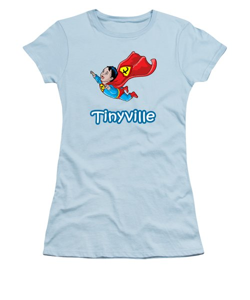 Women's T-Shirt (Junior Cut) featuring the digital art Son Of Superman by Anthony Mwangi
