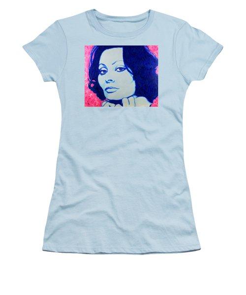 Sophia Loren Pop Art Portrait Women's T-Shirt (Athletic Fit)