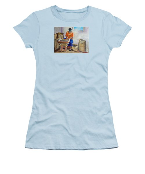 Sorting Nutmegs Women's T-Shirt (Junior Cut) by Laura Forde