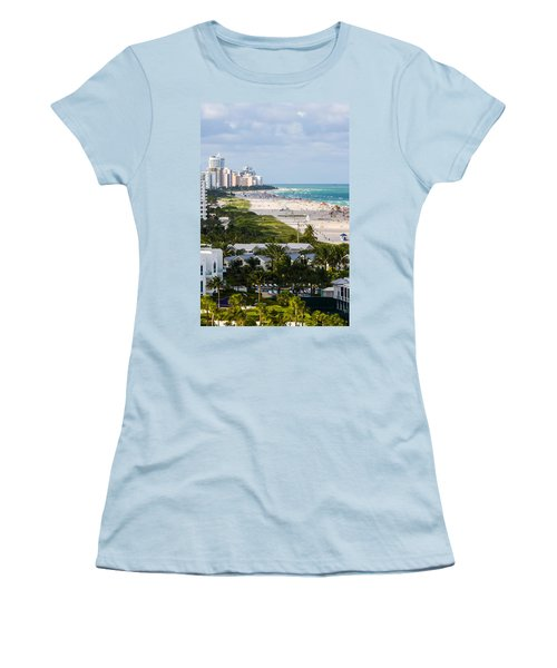 South Beach Late Afternoon Women's T-Shirt (Junior Cut) by Ed Gleichman