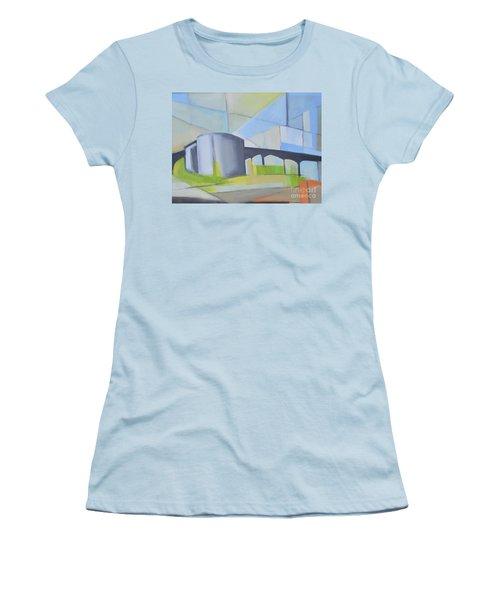 South Hackensack Tanks Women's T-Shirt (Junior Cut) by Ron Erickson