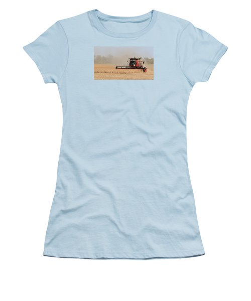 Soybean Harvest In Fremont County Iowa Women's T-Shirt (Athletic Fit)