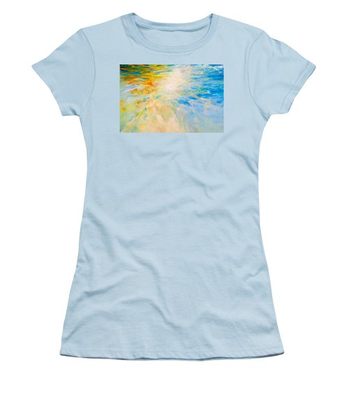 Women's T-Shirt (Junior Cut) featuring the painting Sparkle And Flow by Dina Dargo