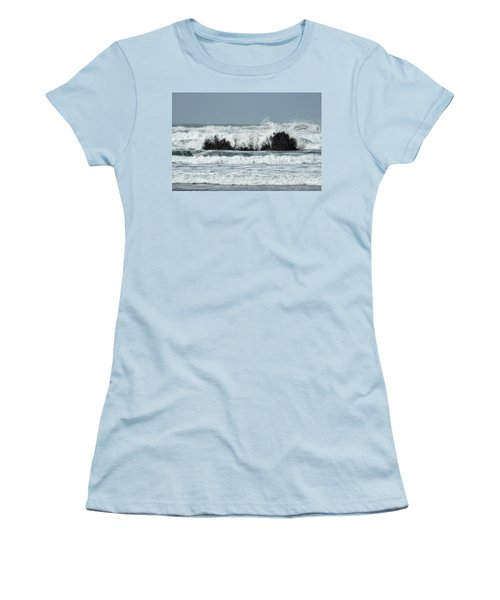 Women's T-Shirt (Athletic Fit) featuring the photograph Splash by Peggy Hughes