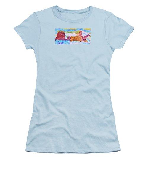 Splish Splash Women's T-Shirt (Junior Cut) by David Millenheft