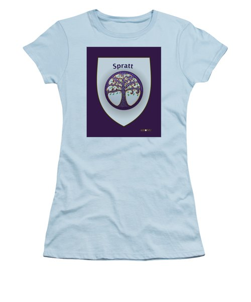 Spratt Family Crest Women's T-Shirt (Athletic Fit)
