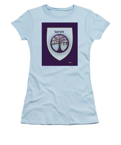 Spratt Family Crest Women's T-Shirt (Athletic Fit)