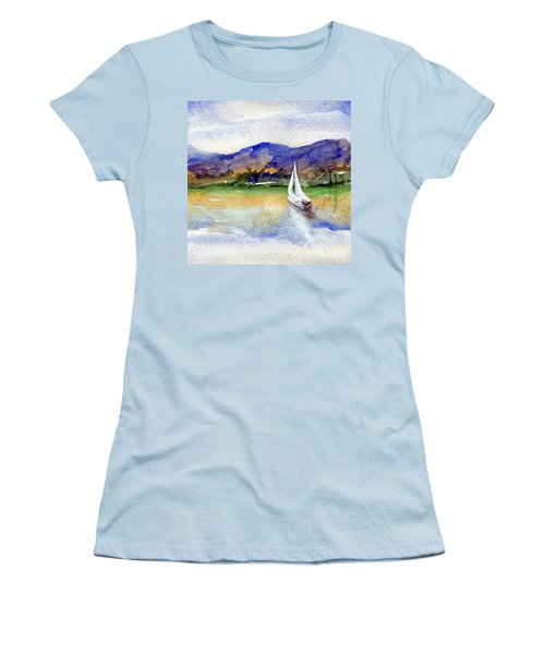 Spring At Our Island Women's T-Shirt (Junior Cut) by Randy Sprout