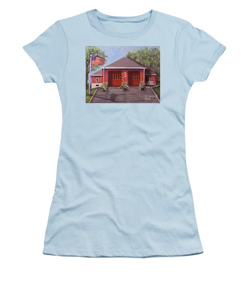 Spring Day At Willow Fire House Women's T-Shirt (Junior Cut) by Rita Brown