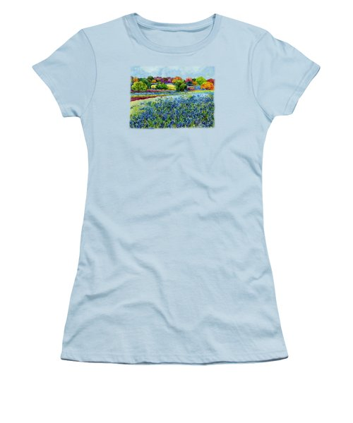 Women's T-Shirt (Junior Cut) featuring the painting Spring Impressions by Hailey E Herrera