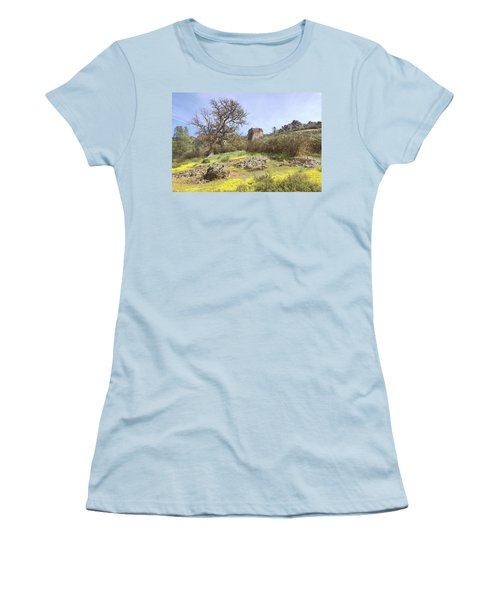 Women's T-Shirt (Junior Cut) featuring the photograph Spring In Pinnacles National Park by Art Block Collections