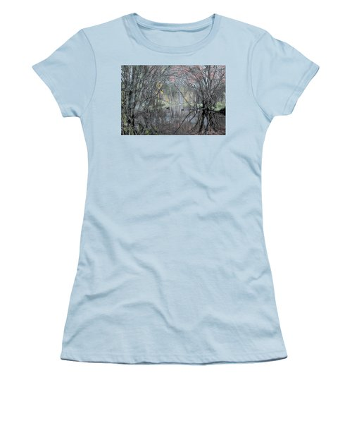 Women's T-Shirt (Junior Cut) featuring the digital art Spring On The Backwater by John Selmer Sr