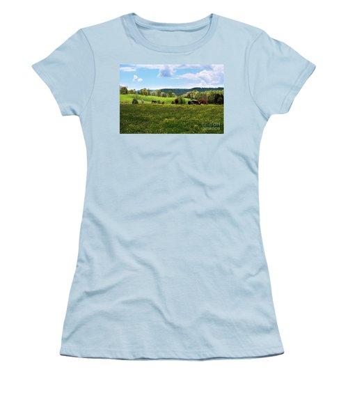 Spring Pastureland Women's T-Shirt (Athletic Fit)
