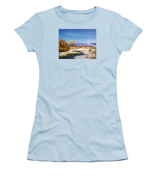 Spring Runoff Women's T-Shirt (Junior Cut) by Sherril Porter