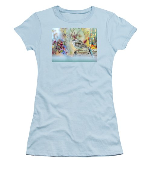 Spring Sparrow Women's T-Shirt (Athletic Fit)
