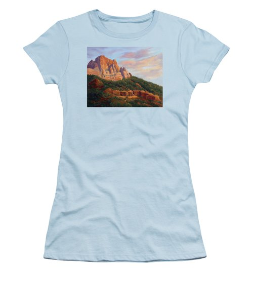 Springdale Sunset On Johnson Mountain Women's T-Shirt (Athletic Fit)