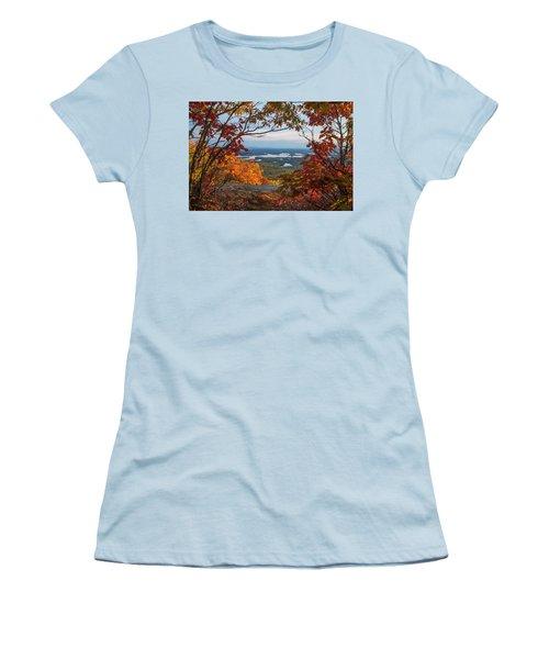 Squam Lake Autumn Views Women's T-Shirt (Athletic Fit)