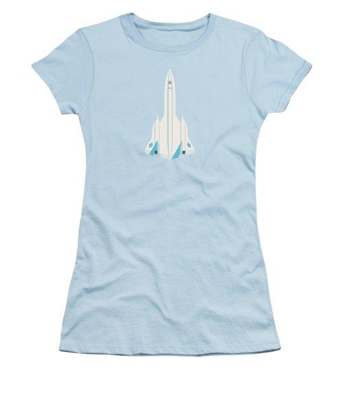 Sr-71 Blackbird Us Air Force Jet Aircraft - Sky Women's T-Shirt (Junior Cut)