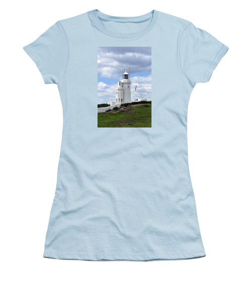 St. Catherine's Lighthouse On The Isle Of Wight Women's T-Shirt (Junior Cut) by Carla Parris