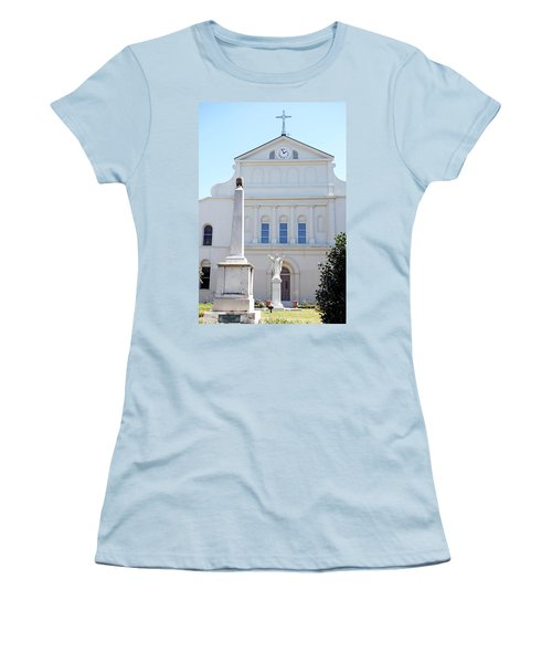 St. Louis Cathedral Back Lawn Women's T-Shirt (Athletic Fit)