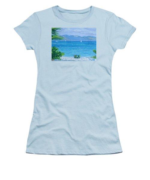 St Martin From Anguilla Women's T-Shirt (Junior Cut) by Margaret Brooks
