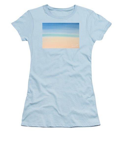 St Thomas #2 Seascape Landscape Original Fine Art Acrylic On Canvas Women's T-Shirt (Athletic Fit)