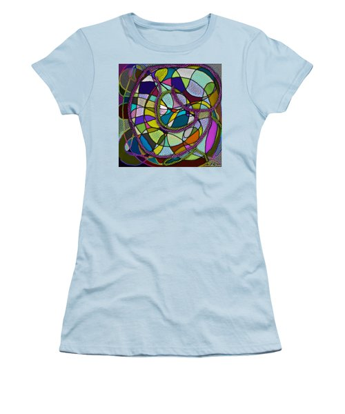 Women's T-Shirt (Athletic Fit) featuring the digital art Stained Glass Mother And Child by Iowan Stone-Flowers