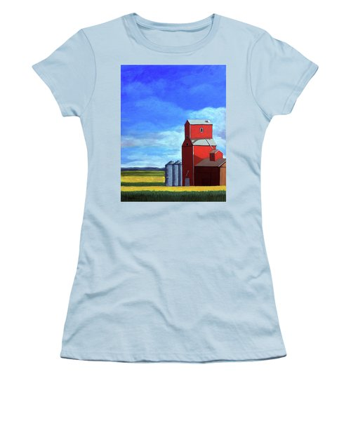 Women's T-Shirt (Junior Cut) featuring the painting Standing Tall by Linda Apple