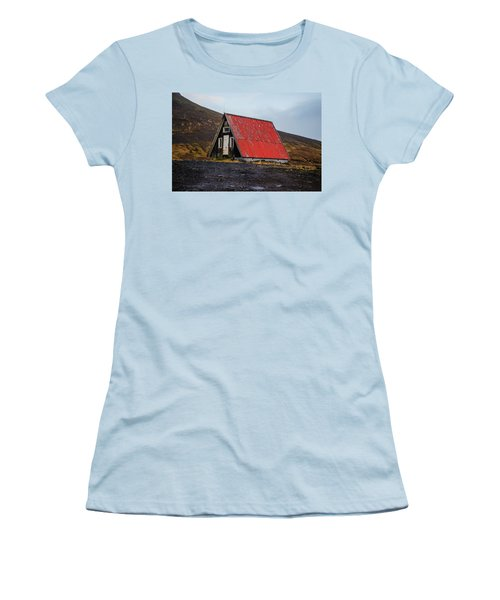 Steep Roof Barn Western Iceland Women's T-Shirt (Athletic Fit)
