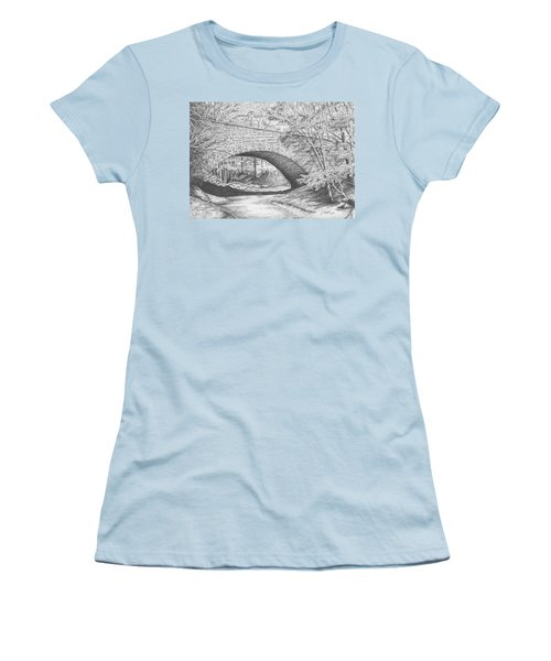 Stone Bridge Women's T-Shirt (Junior Cut) by Lawrence Tripoli