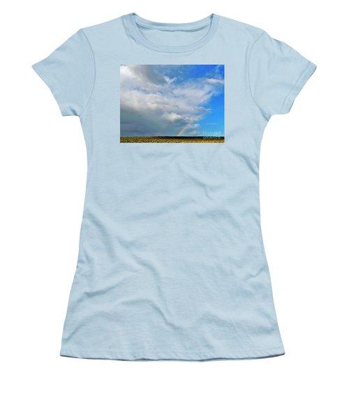 Thunder Storm Rainbow Women's T-Shirt (Junior Cut) by Michele Penner