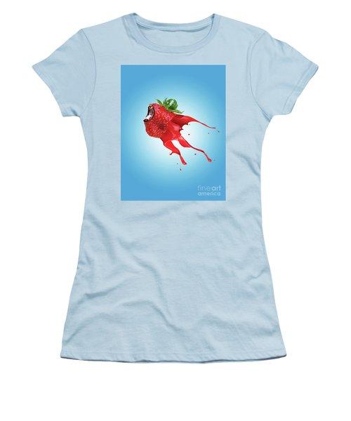 Women's T-Shirt (Junior Cut) featuring the photograph Strawberry by Juli Scalzi