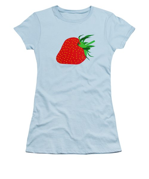 Strawberry Pop Remix Women's T-Shirt (Junior Cut) by Oliver Johnston